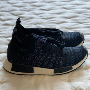 Adidas sneakers black and navy blue women's 8